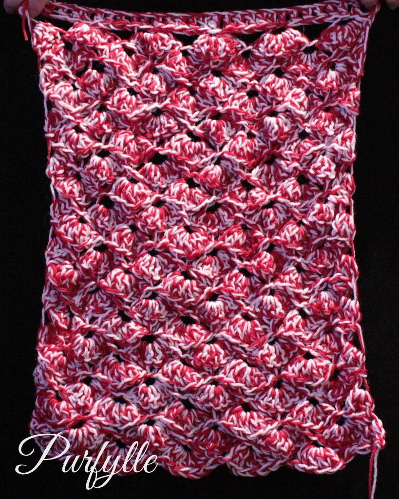 Shell stitch crochet rectangle UFO