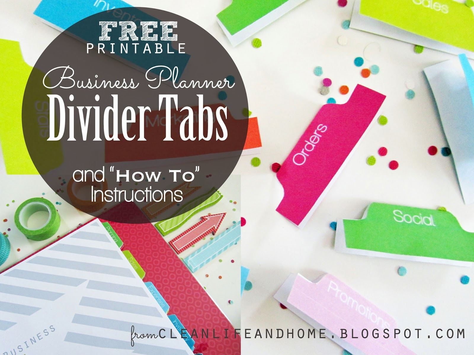 image regarding Printable Tabs identified as New Lifestyle and Residence: Free of charge Printable: Divider Tabs Webpages for