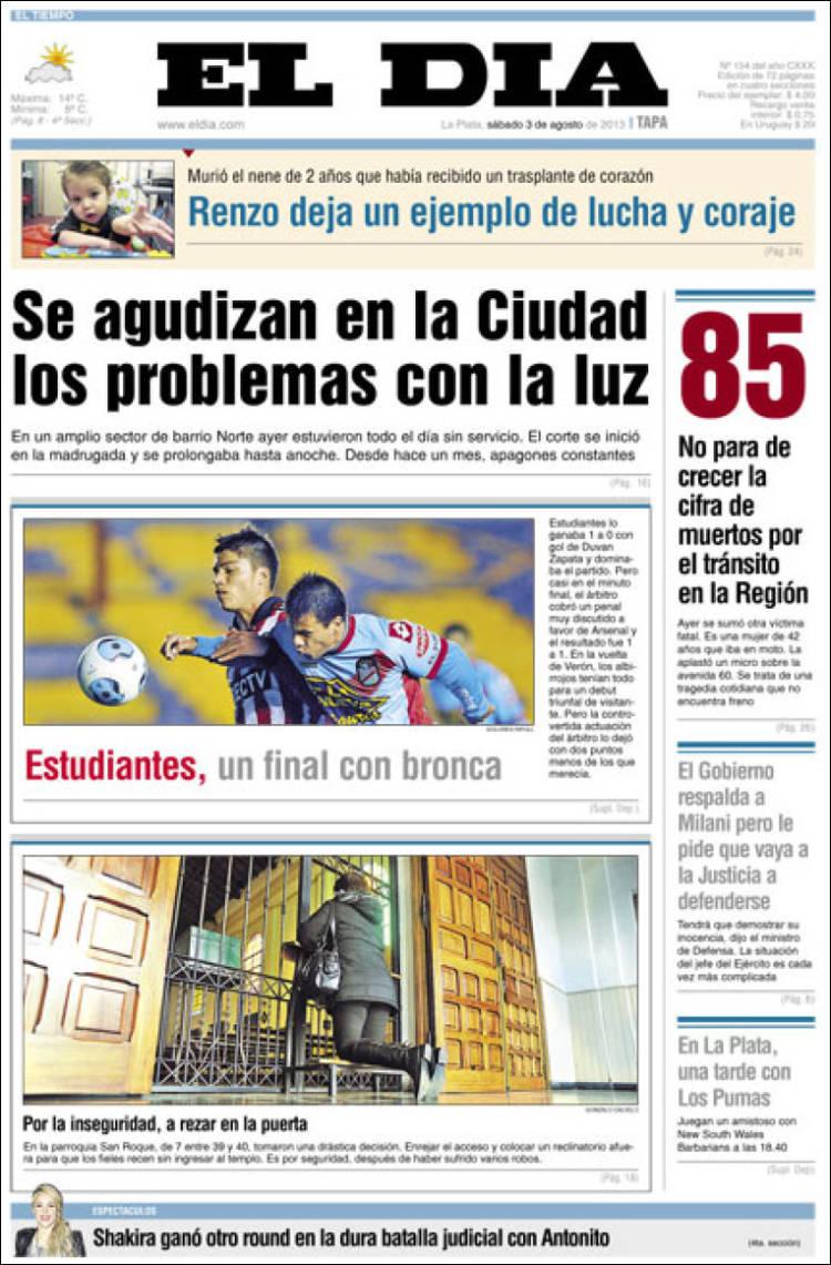 Shakira argentina shakira en la portada del diario el for Chimentos de hoy en argentina