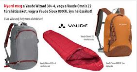 Nyerj Vaude hátizsákot, vagy hálózsákot!