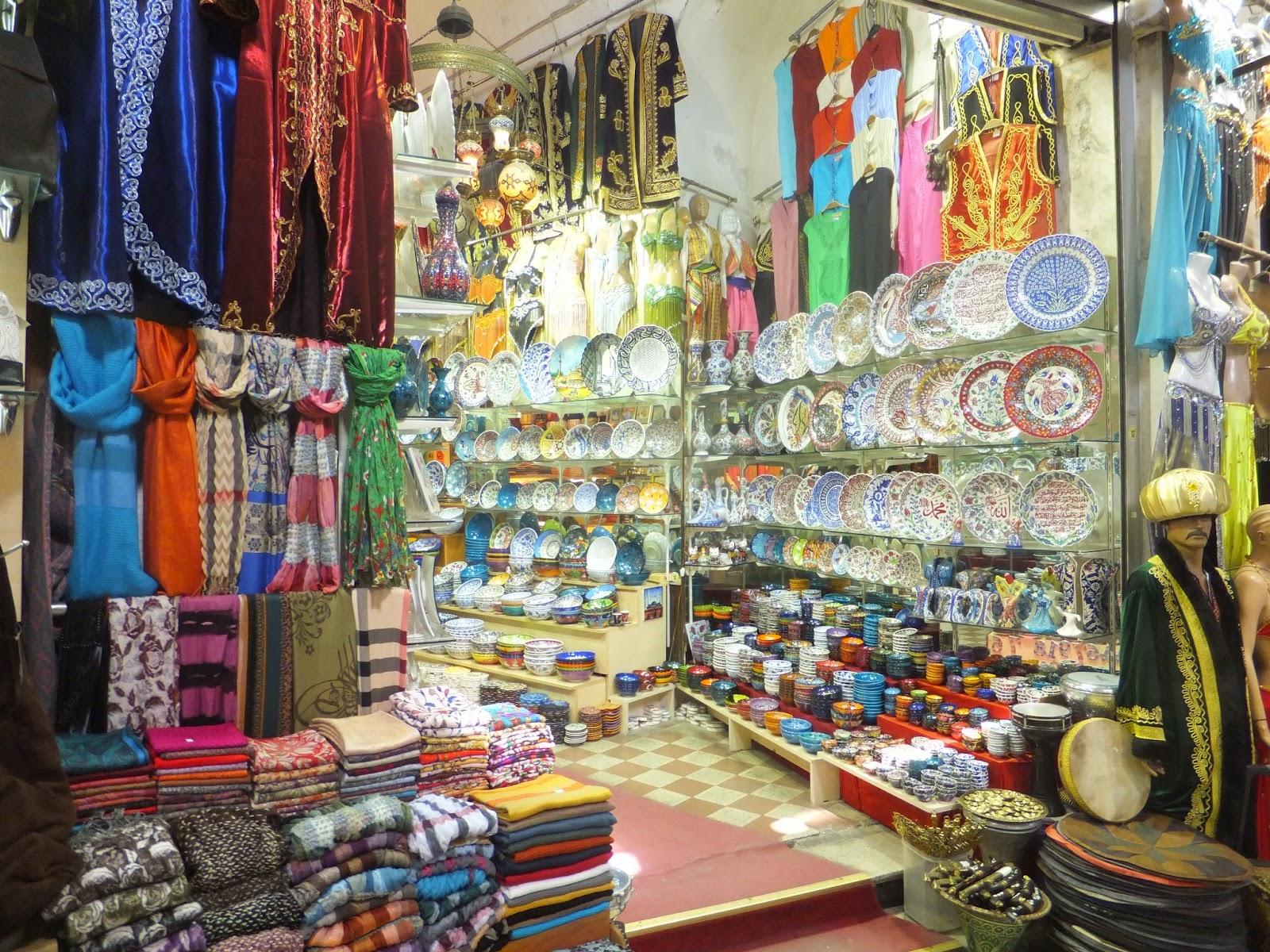 торговая лавка в Гранд базаре в Стамбуле