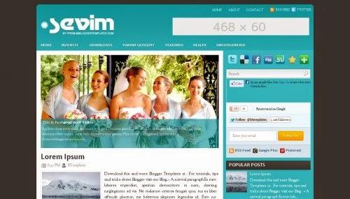 Sevim - Free Blogger Template