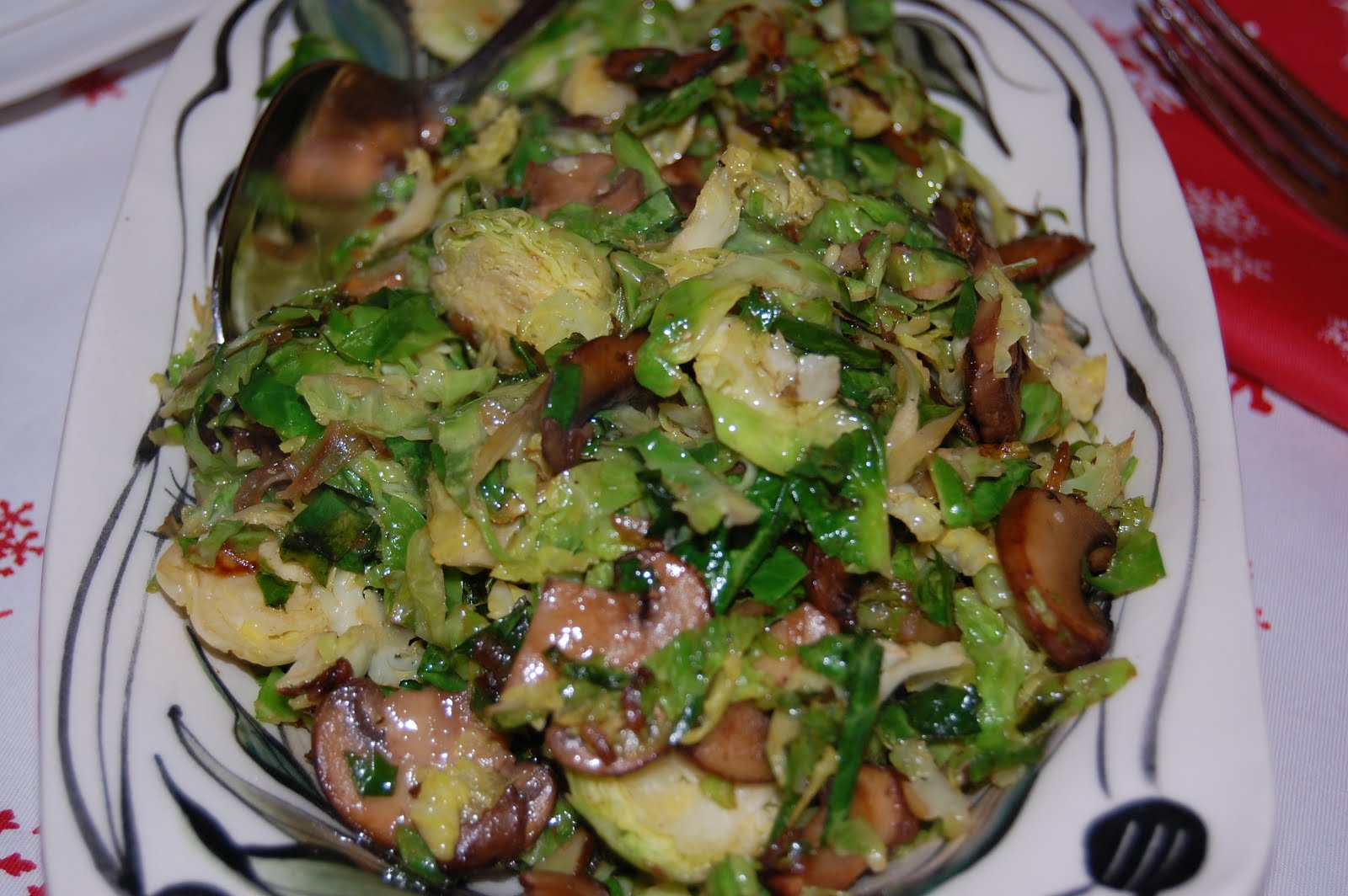 KnitOne,PearlOnion: Sautéed Brussels Sprouts