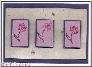 Blumentrio lila