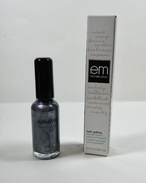 Nailtini Nail Lacquer and em Michele Phan Lash Gallery Dramatic Volume Waterproof Mascara