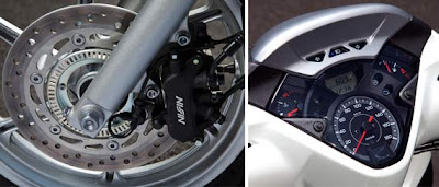 disk brake dan panel spidometer honda scoopy sh300