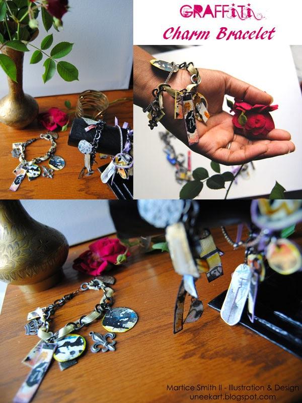 Graffiti Charm Bracelet Tutorial by Martice Smith II