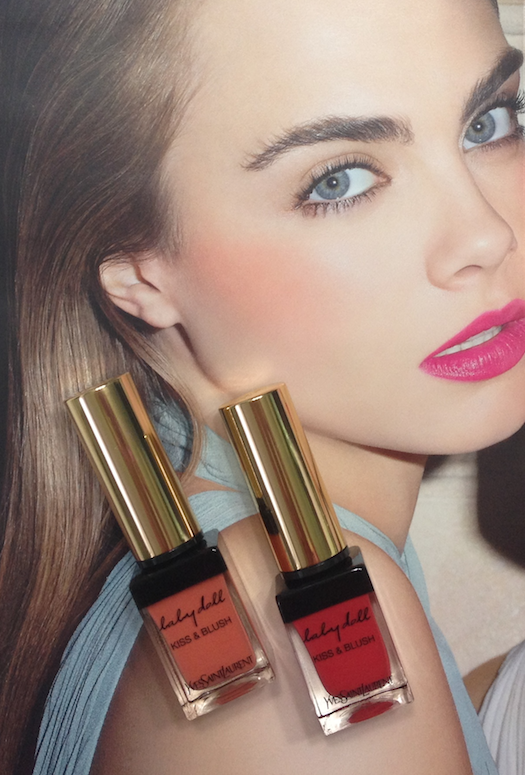 YSL Kiss & Blush Lips & Cheeks - #5 Rouge Effrontée and #7 Corail Affranchi