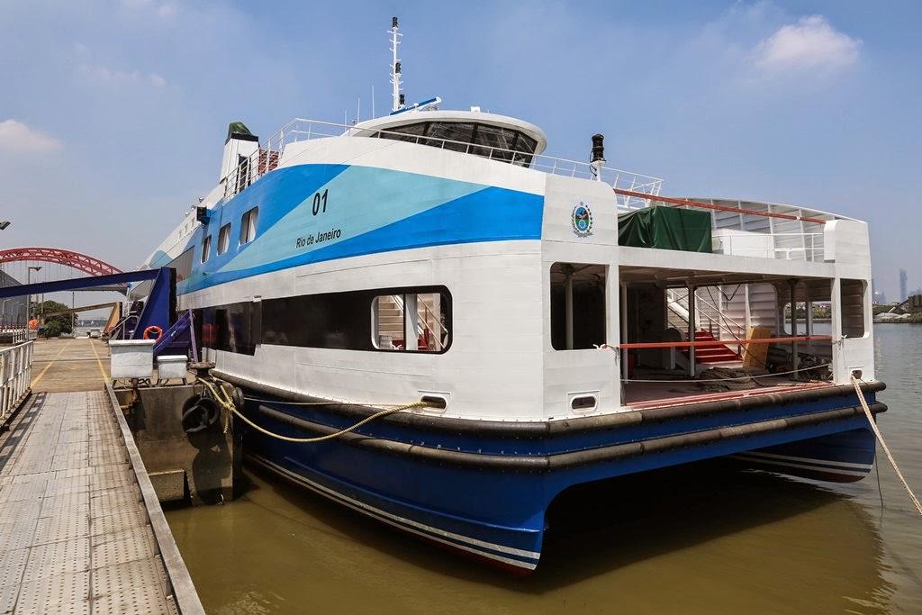 A primeira das nove novas barcas adquiridas pelo Estado já tem nome  e deve chegar ao Rio em novembro