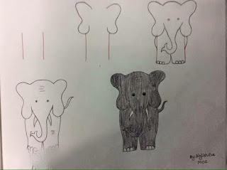 رسم لفيل