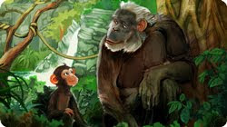 Click the image for your free iPad book: Chimps Should be Chimps