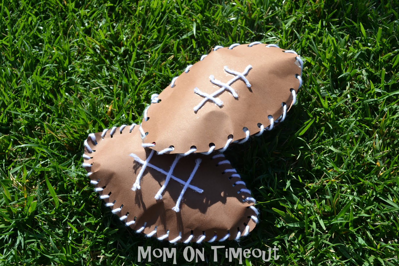 Preschool crafts for kids father 39 s day paper football craft for Football crafts for preschoolers