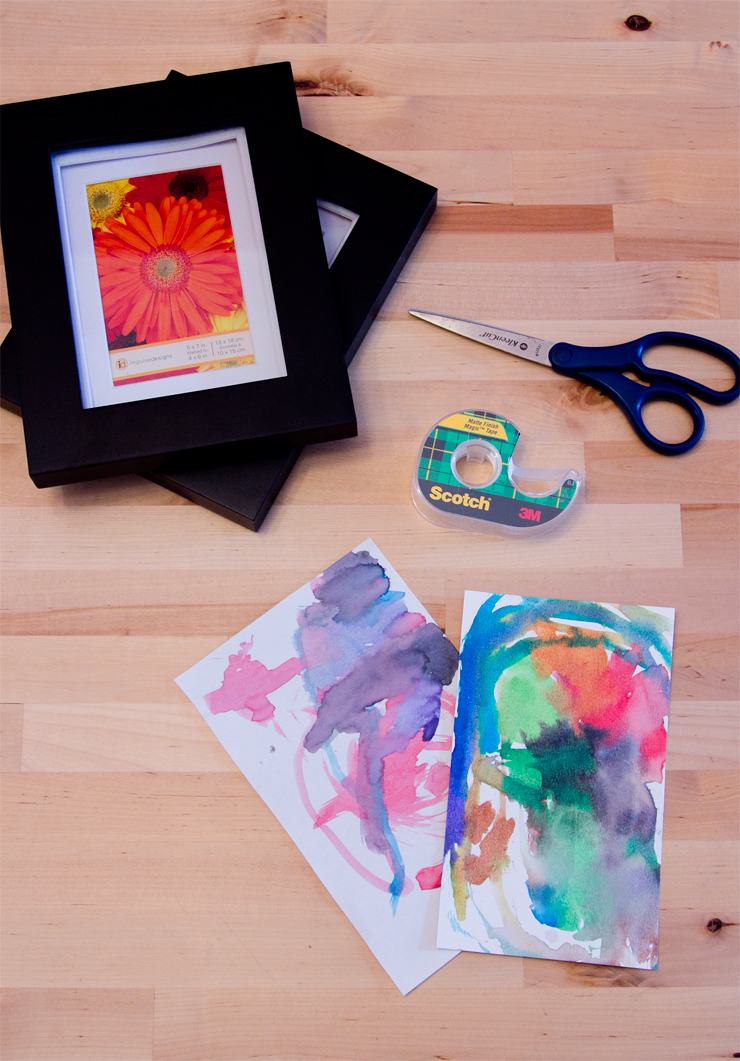 Diy lady hacks frame your childs art all you need is a kid to make you some art in my case my niece a quick trip to a store that sells frames on sale is better and a little bit of time solutioingenieria Gallery