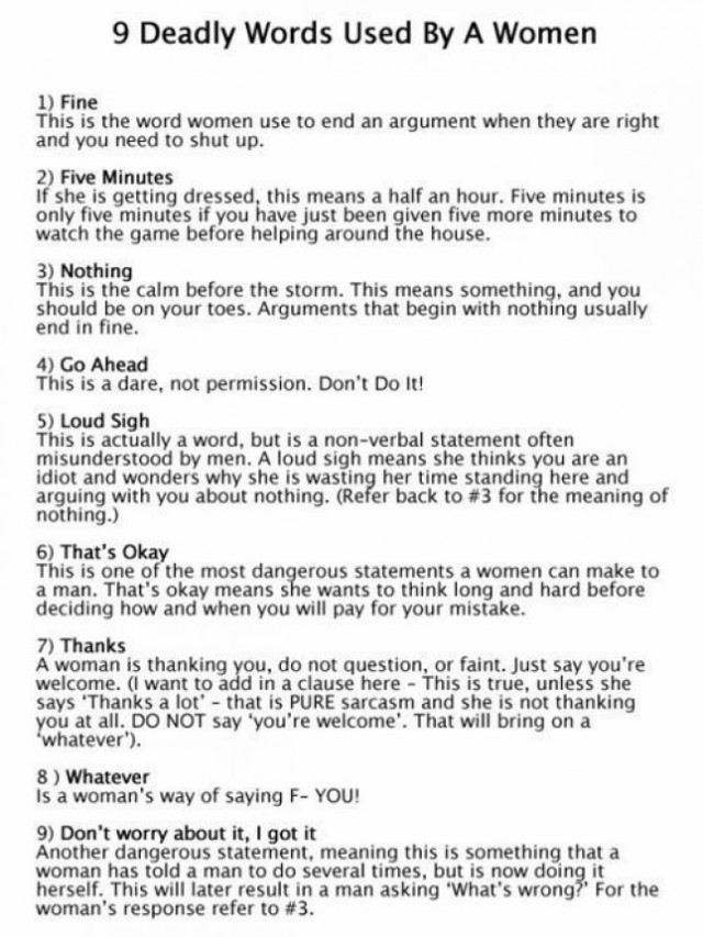 9 Most Deadly Lines Used By A Woman