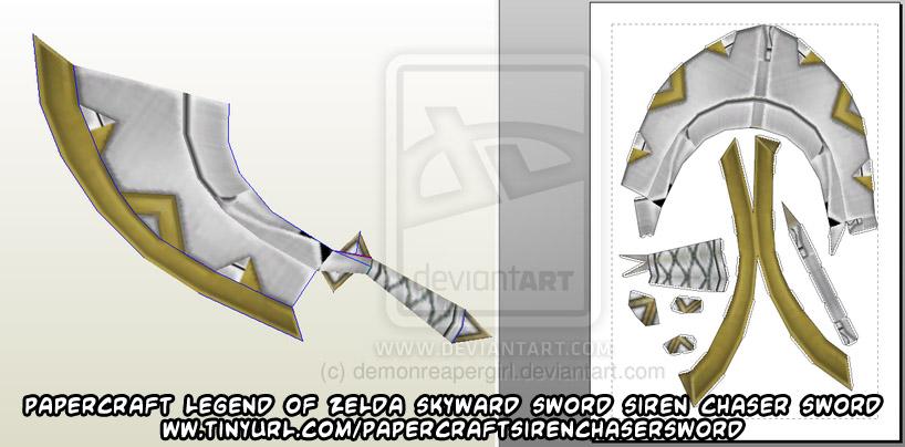 Adventure Time Papercraft Sword Template