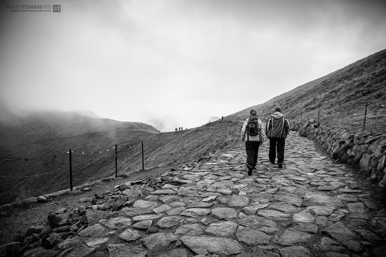 Tourists walking on Kasprowy Wierch