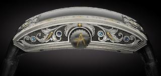 Artya Arabesque Tourbillon boîtier en titane gravé à la main