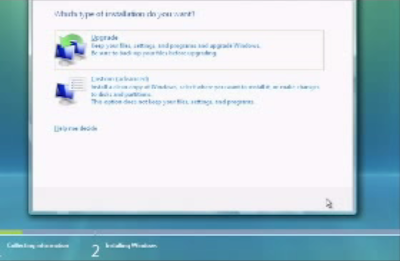cara instal windows vista