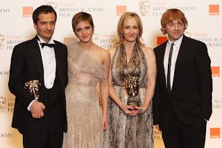 David Heyman, Emma Watson, J.K. Rowling, Rupert Grint