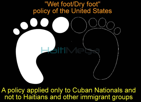How the wet feet, dry feet policy is discriminatory