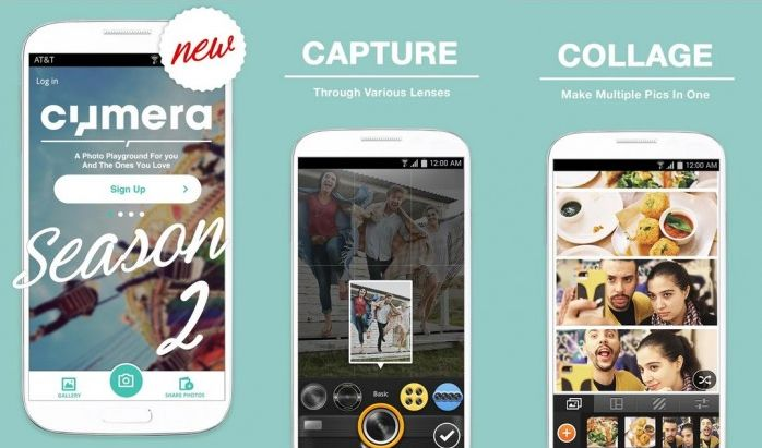 Aplikasi kamera android dengan fitur kolasi dan filter