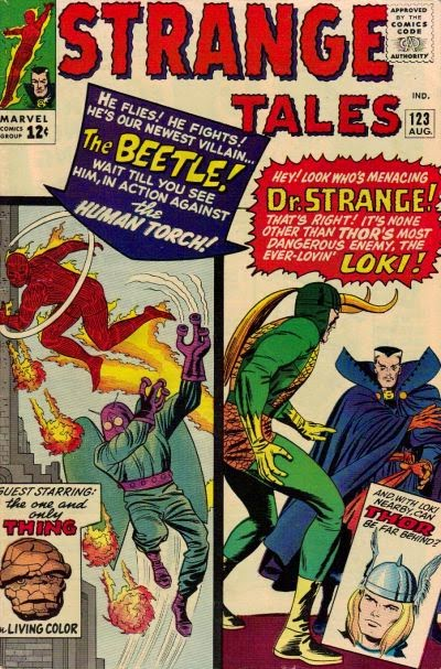 Strange Tales #123, the Human Torch and Dr Strange