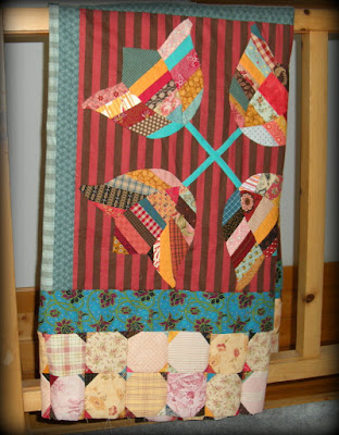 A Scrappy Tulips Quilt Top Finish