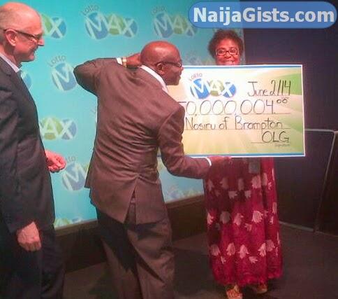nigerian wins lotto max brampton canada