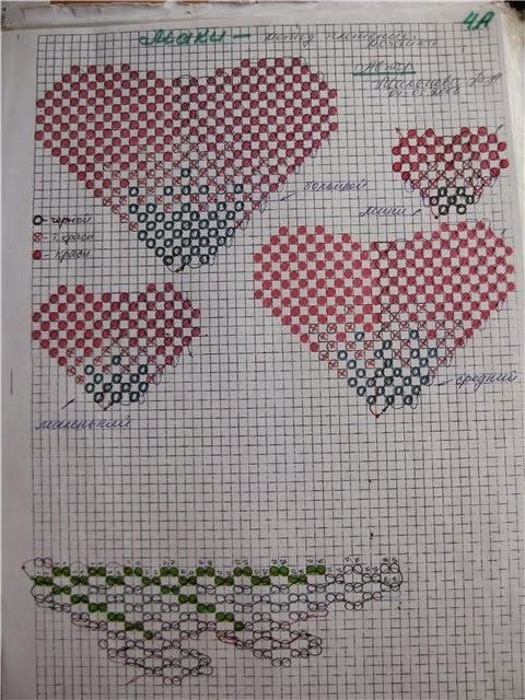 Схема плетения. Маки из бисера