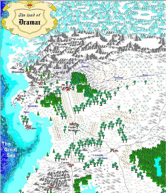 Land of Dramar Map