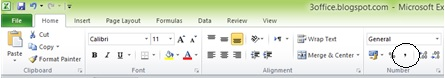 comma style dalam ms excel
