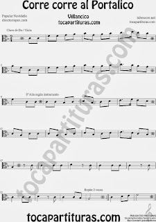 Partitura de para Viola Canción de Navidad Christmas Song Sheet Music for Viola Music Scores