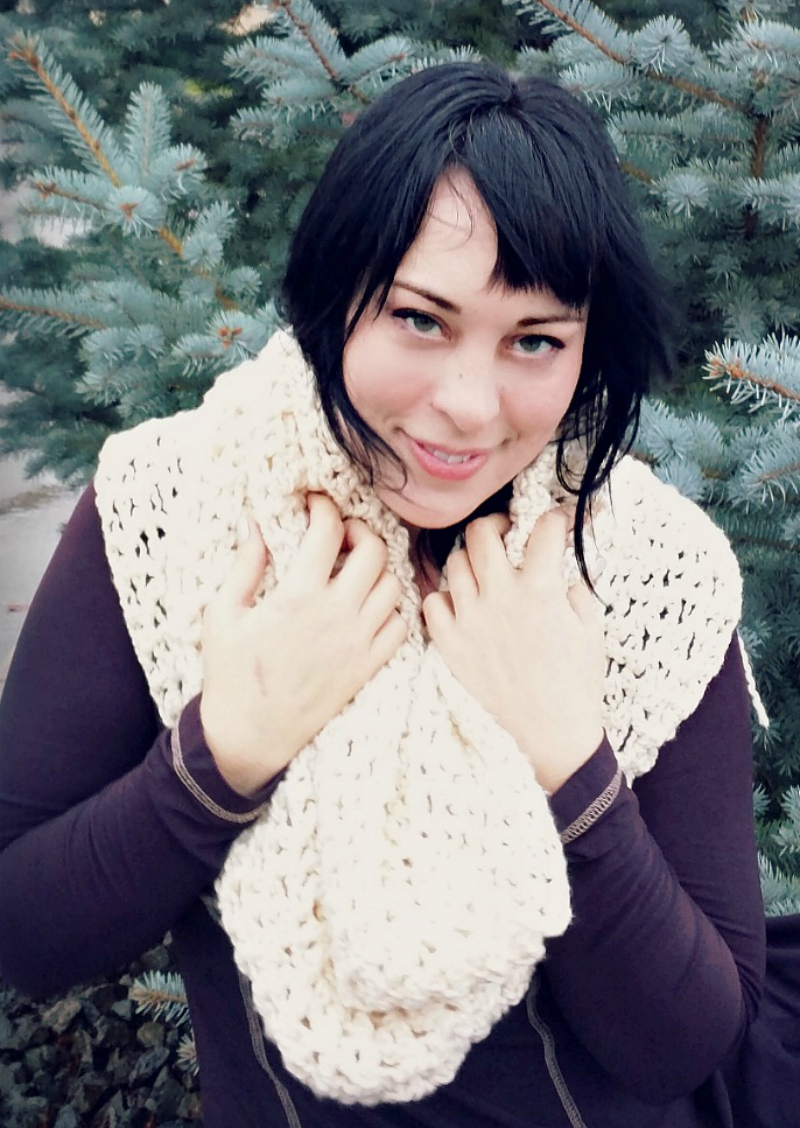 chunky infinity cowl scarf free crochet pattern