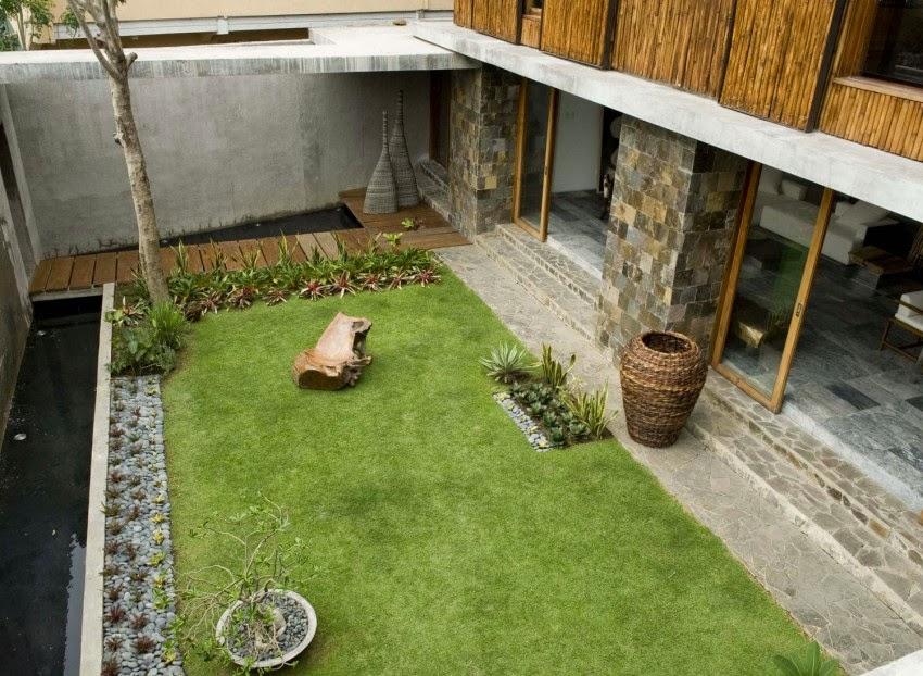 Hogares frescos residencia privada con colores c lidos for Jardin 60 metros cuadrados