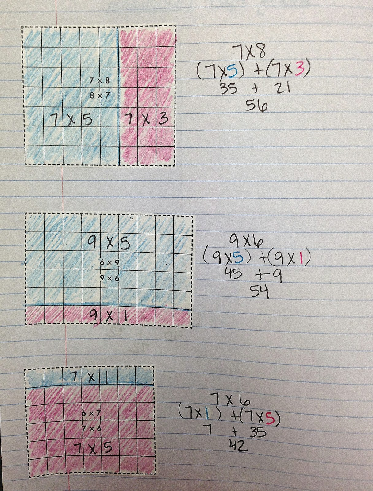 The 4th Grade May-niacs: Breaking Apart Numbers in Multiplication