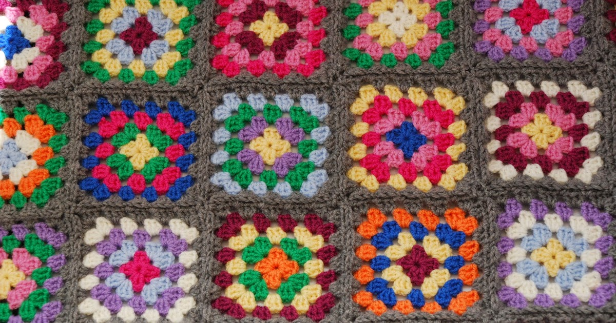 Free Crochet Afghan Patterns For Young Adults : Amjaylou: How to Make and Join Granny Squares