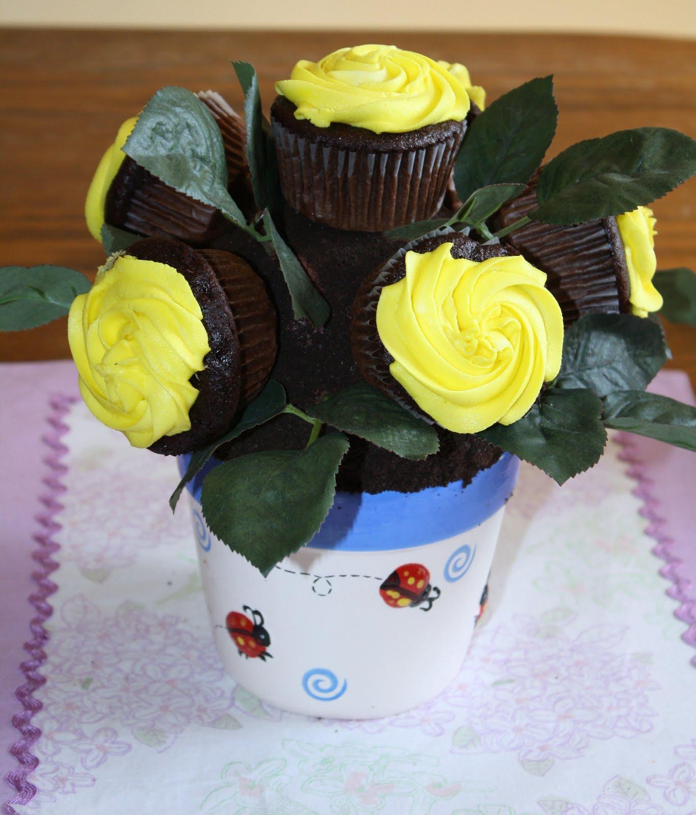 Sweet Pea And Pumkins Rose Cupcakes Flower Pot Tutorial