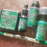 Tim Holtz Distress Lucky Clover