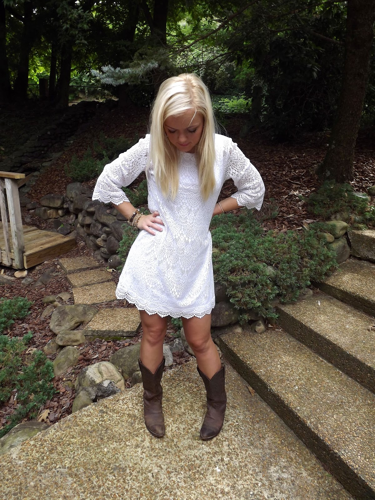 Wedding White Country Dress white lace dress country and bottoms country