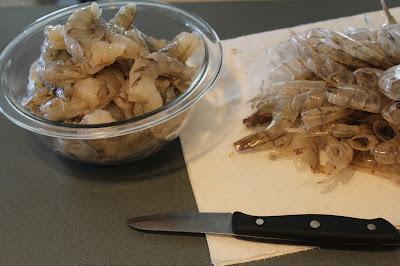 shrimp, devein and peel