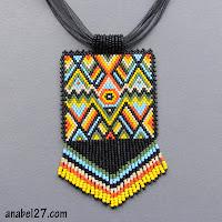 бисероплетение схемы мозаика кирпичик африканские украшения