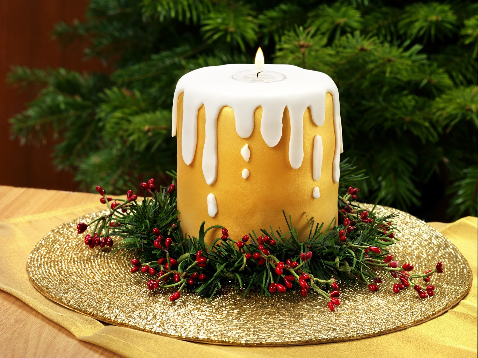 Cake Images With Candle : Cake Junki: Dr Oetker Christmas candle cake