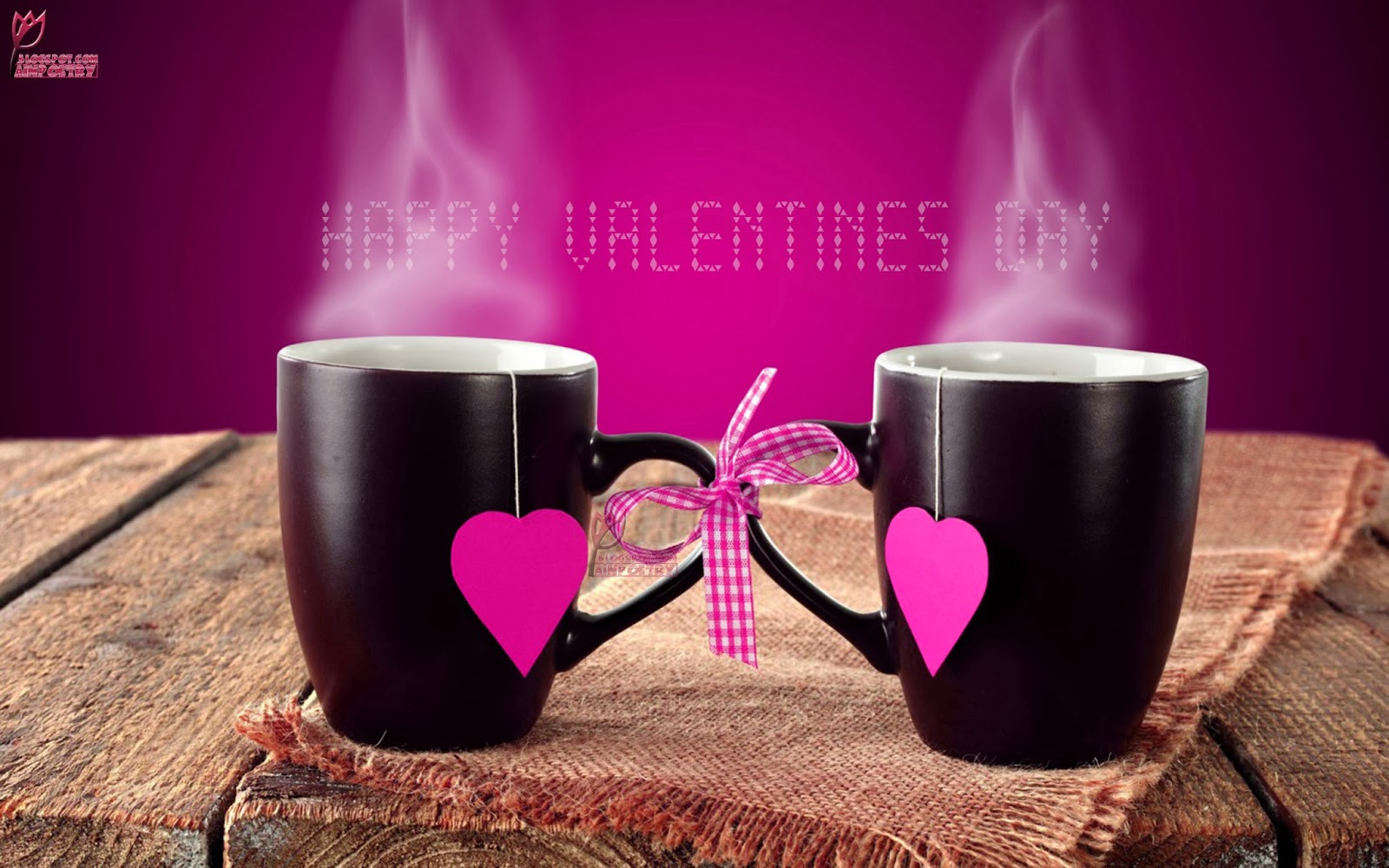 Happy-Valentines-Day-Sweet-Morning-Wallpaper-With-Lovers-Cups-HD