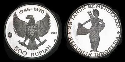 Uang Koin Pecahan 500 Rupiah 1970