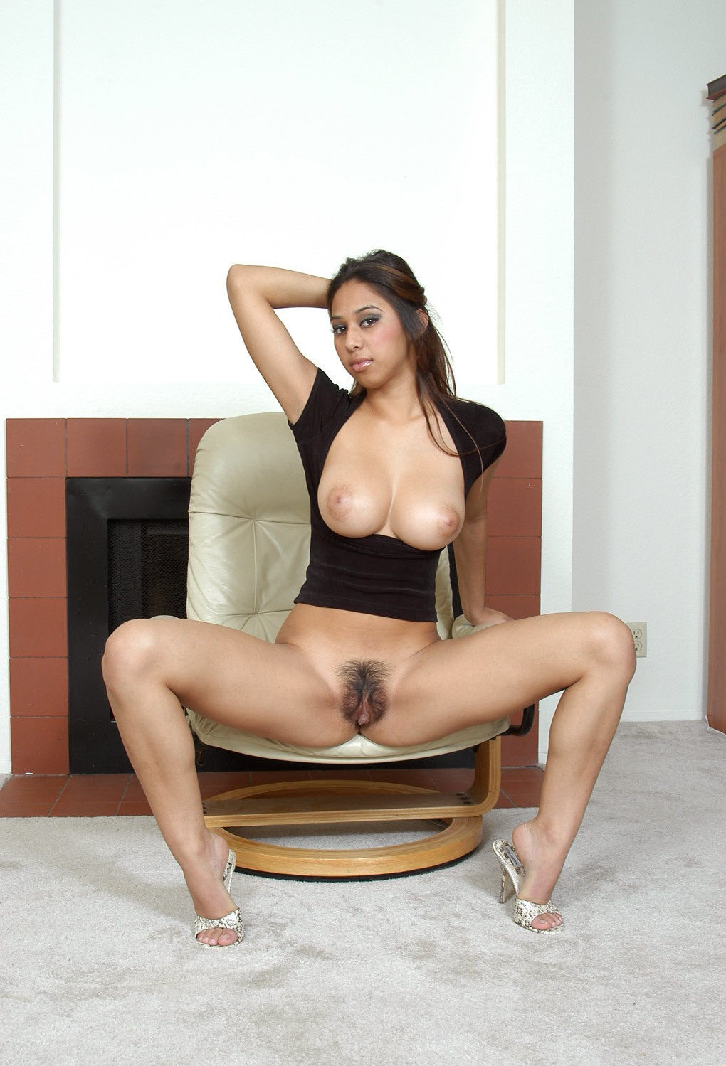 Hairy pussy out panty