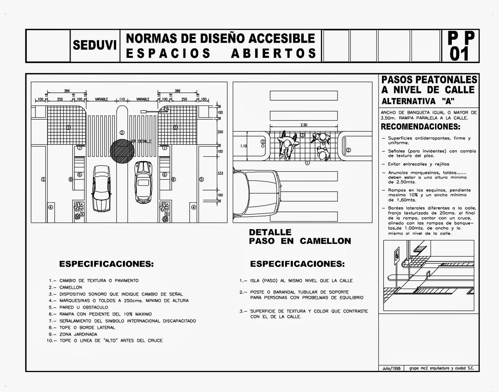 Baño Discapacitados Medidas:LAMPP01-paso peatonal