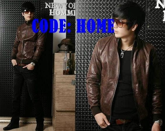 Jaket semi kulit Home