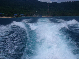waves at tioman island