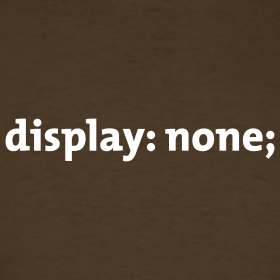 Display:none not recommended atribute