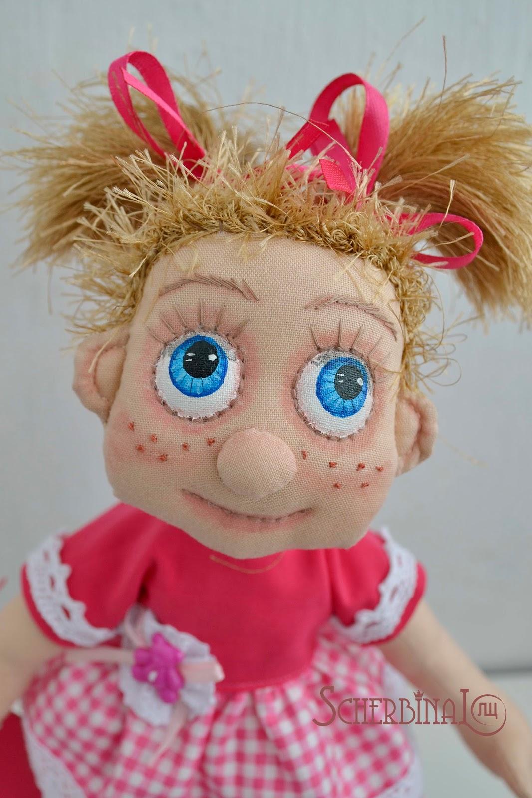 текстильная кукла-карамелька Катя